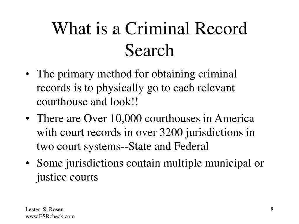 What is a Criminal Record Search