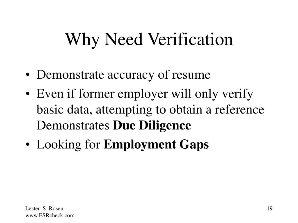 Why Need Verification
