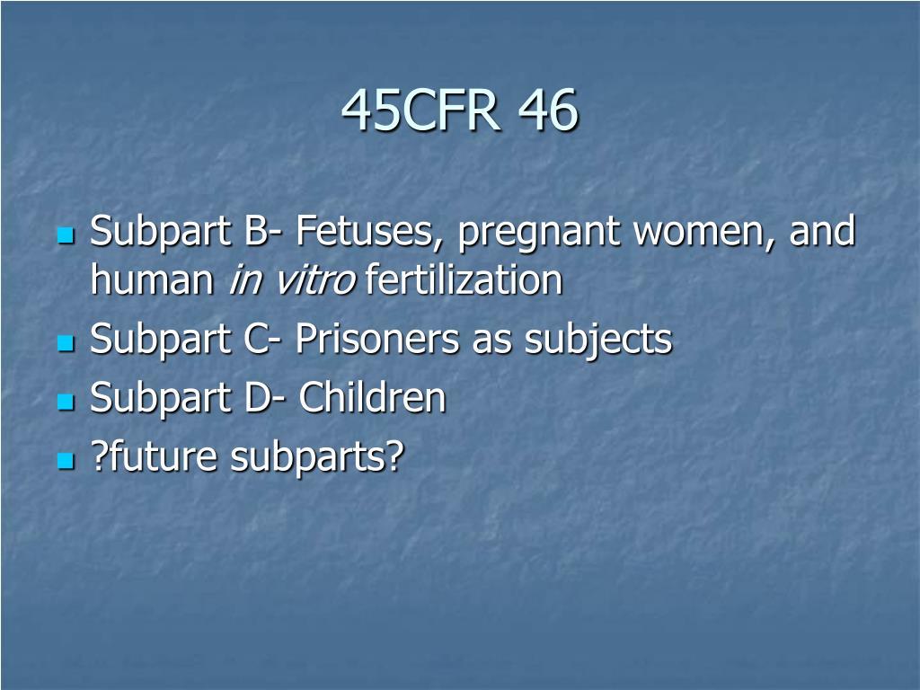 45CFR 46