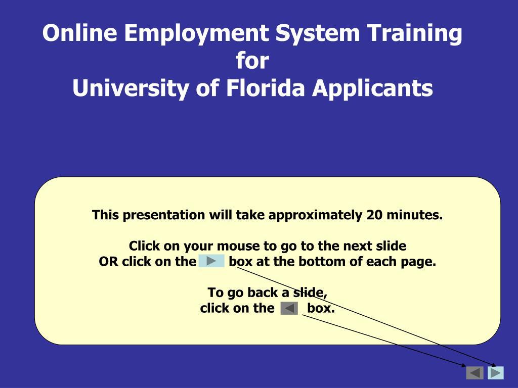 Online Employment System Training