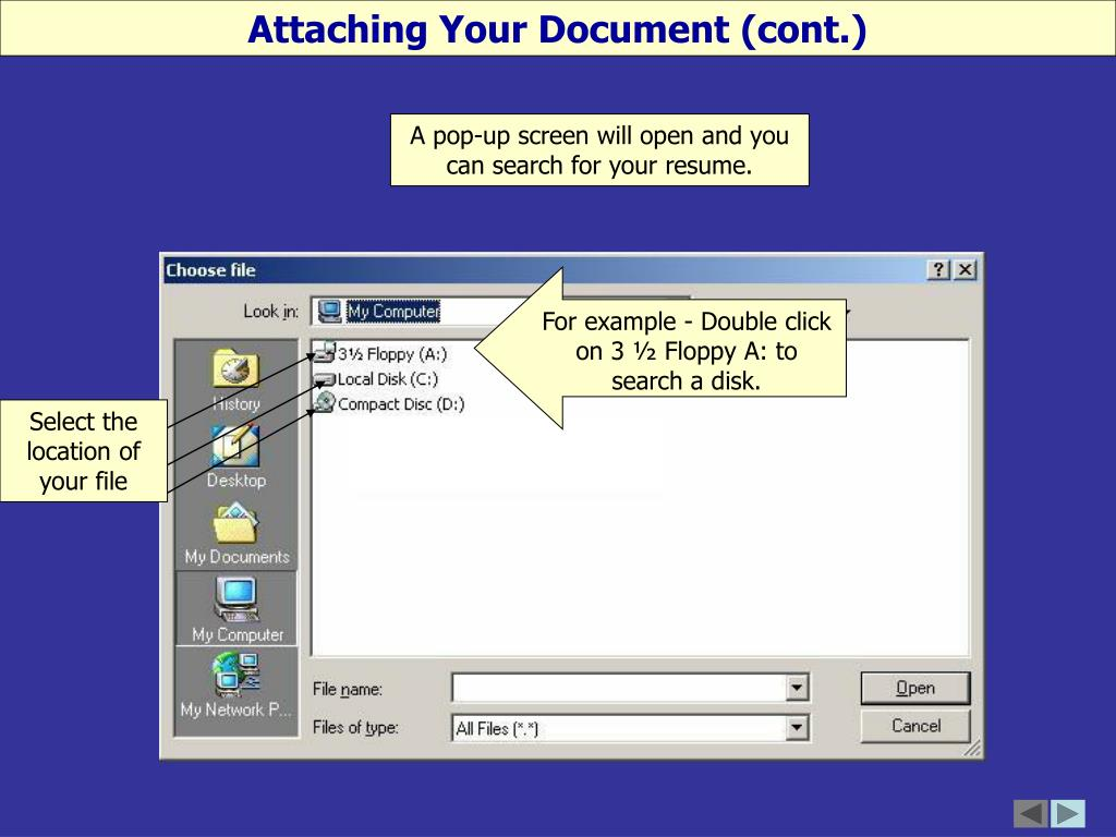 Attaching Your Document (cont.)