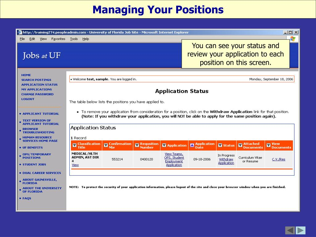 Managing Your Positions