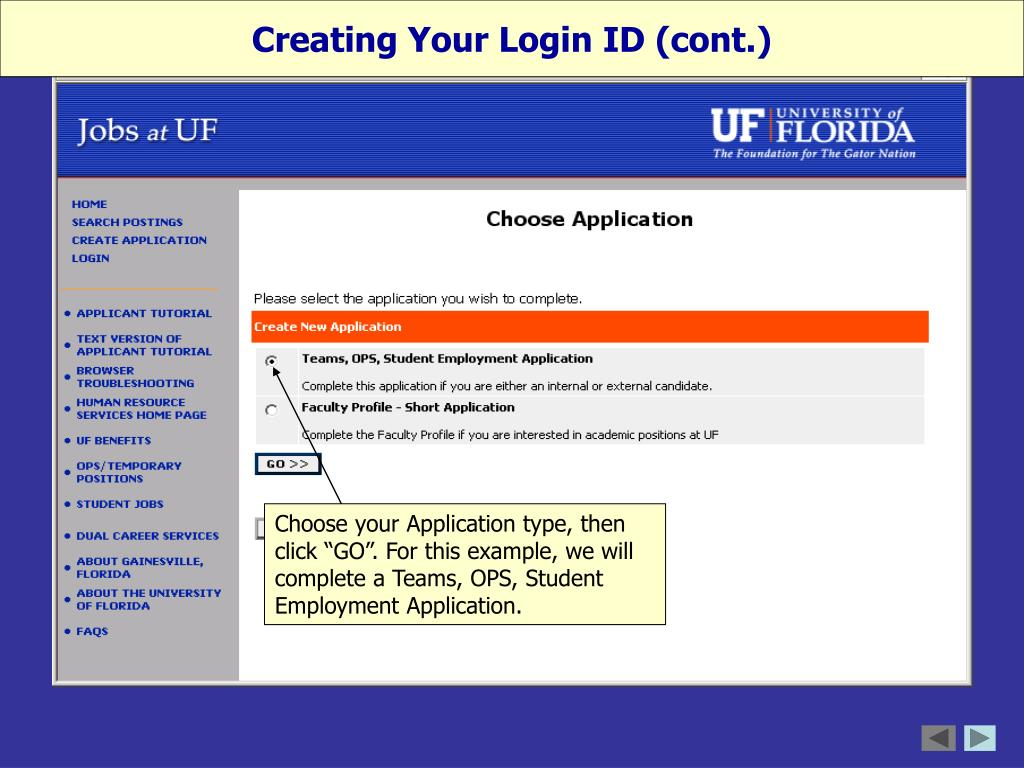 Creating Your Login ID (cont.)