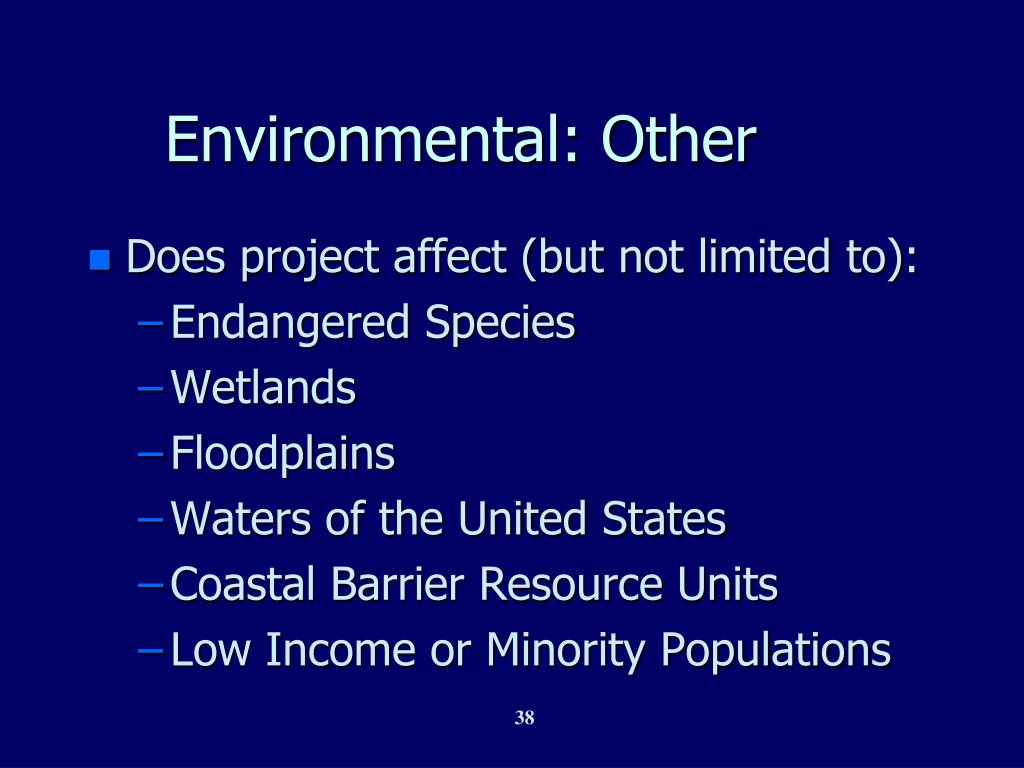 Environmental: Other