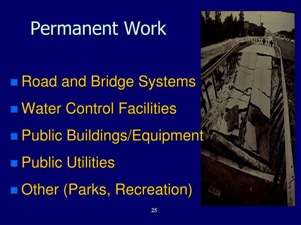 Permanent Work