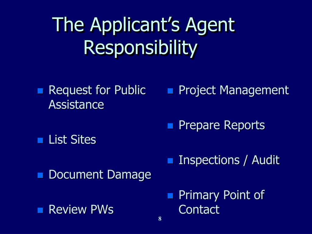 Request for Public Assistance