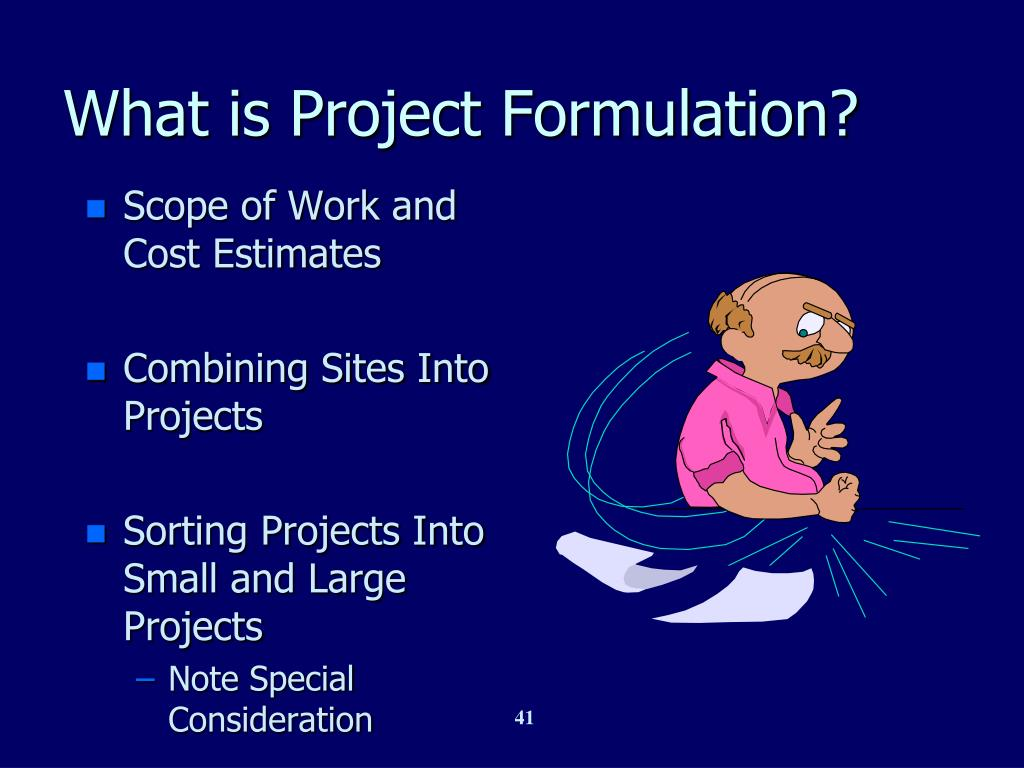 What is Project Formulation?