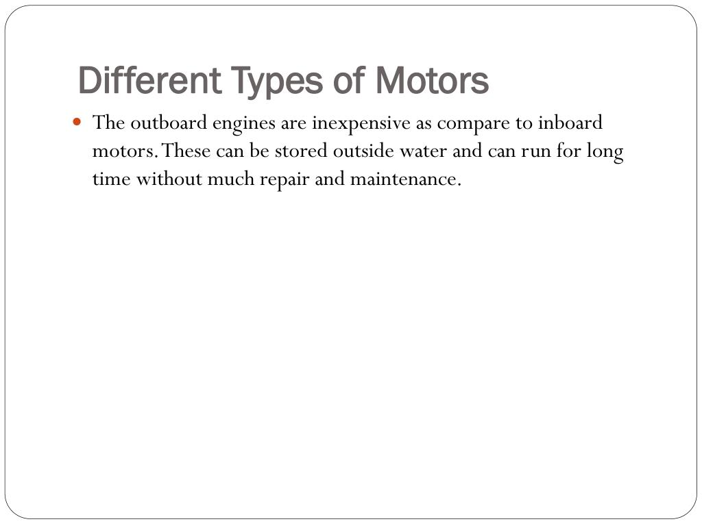 Different Types of Motors