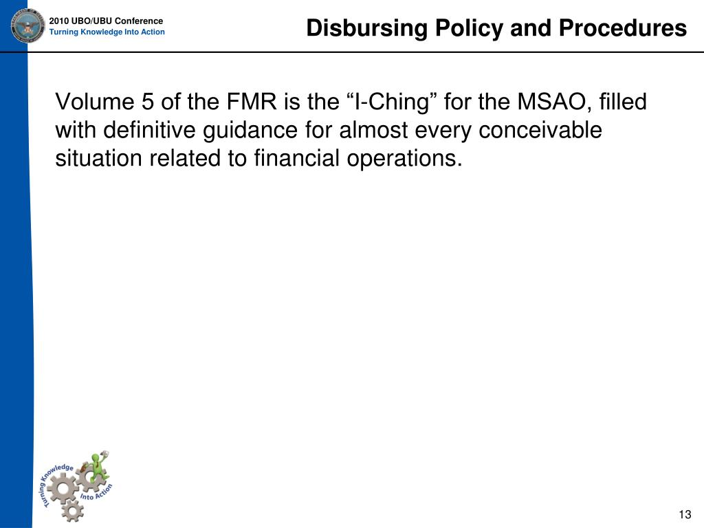 Disbursing Policy and Procedures