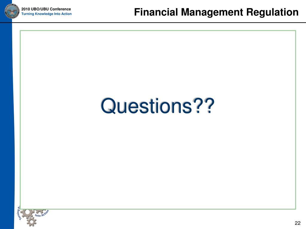Financial Management Regulation