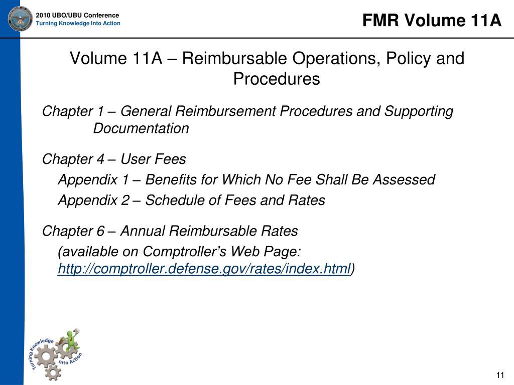FMR Volume 11A