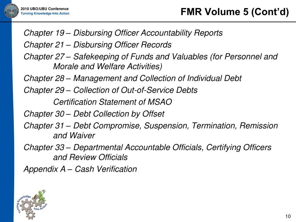 FMR Volume 5 (Cont'd)