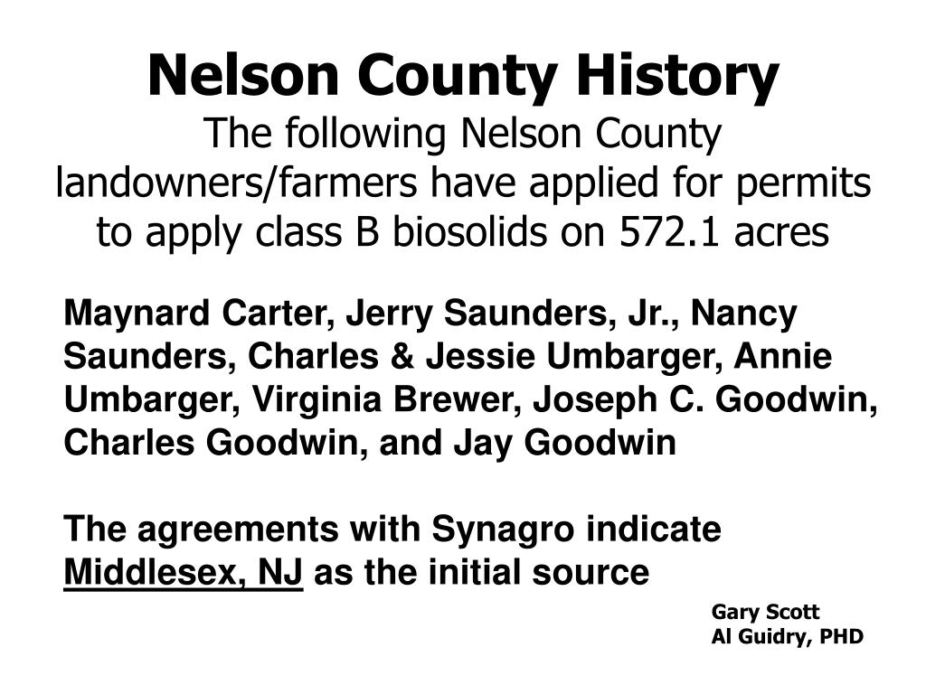 Nelson County History