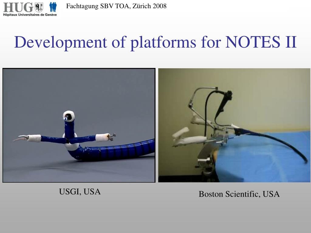 Development of platforms for NOTES II