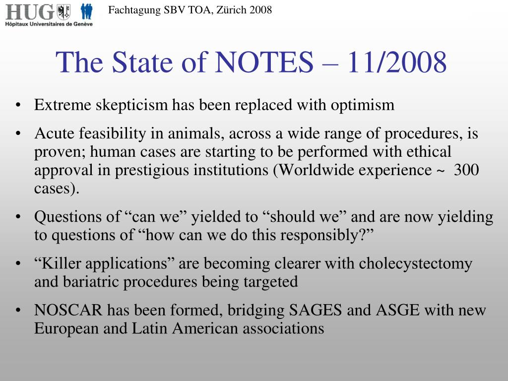 The State of NOTES – 11/2008