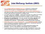 joint bioenergy institute jbei