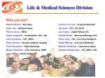 life medical sciences division