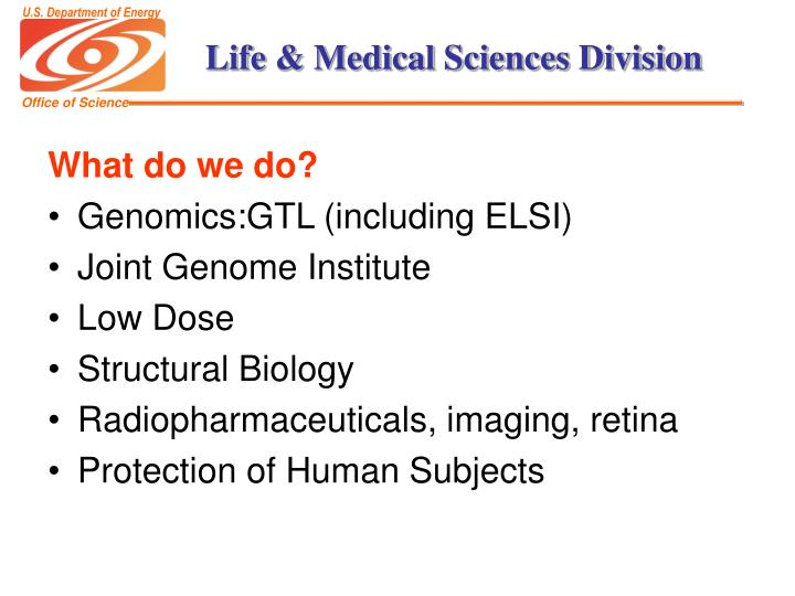 Life medical sciences division3