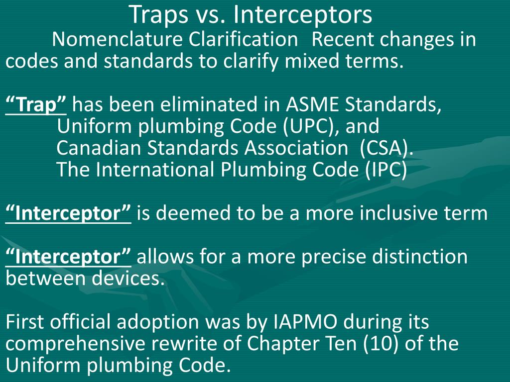 Traps vs. Interceptors