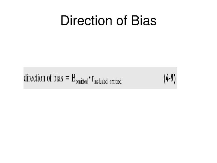 Direction of Bias
