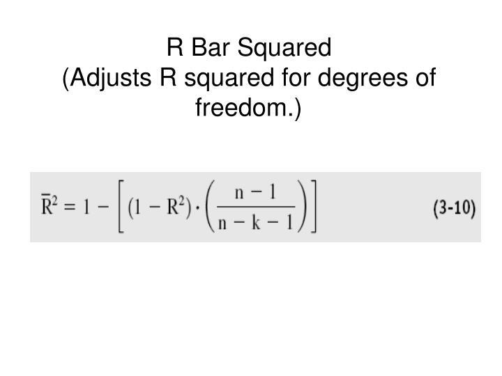 R Bar Squared