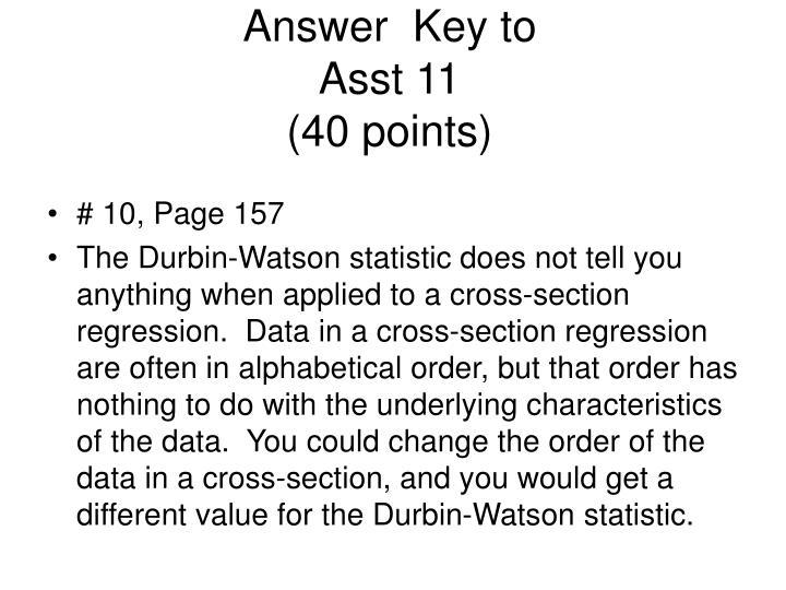 Answer  Key to