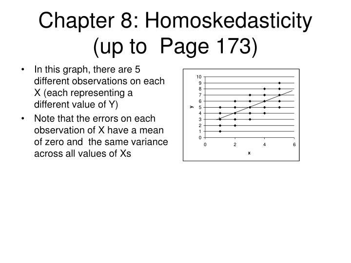 Chapter 8: Homoskedasticity