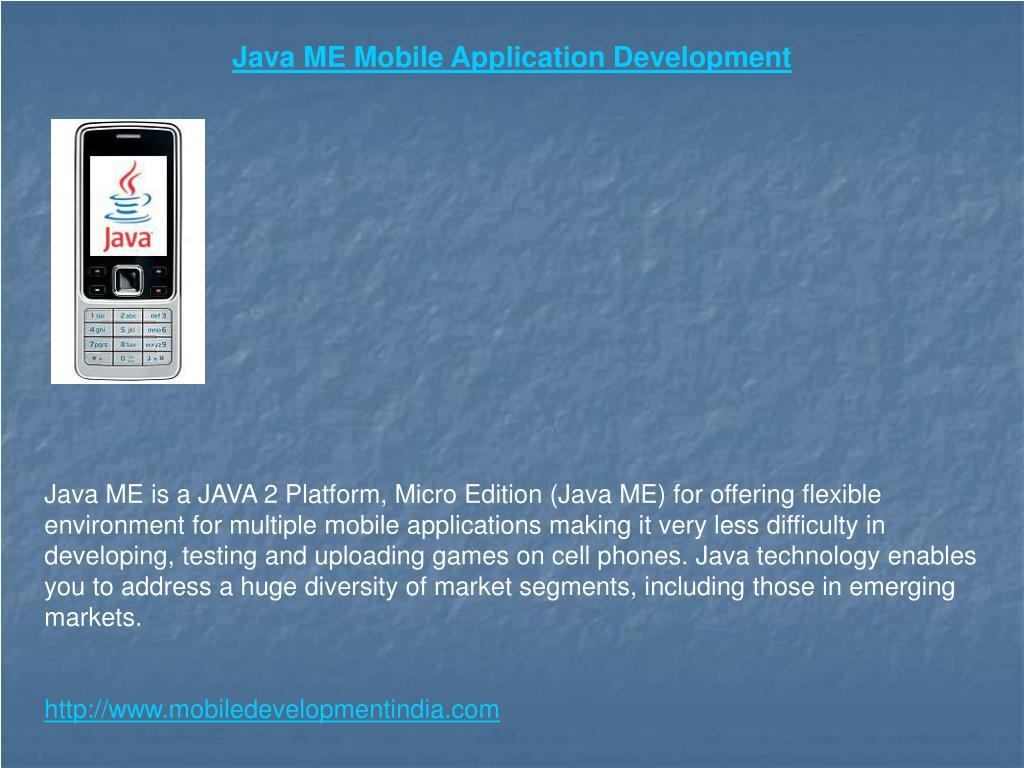 Java Platform Micro Edition (Java ME)