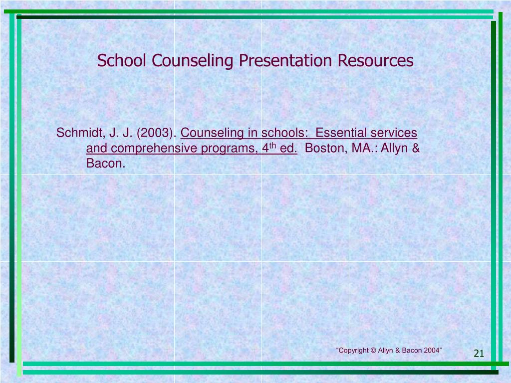 School Counseling Presentation Resources