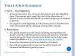 title i a site eligibility