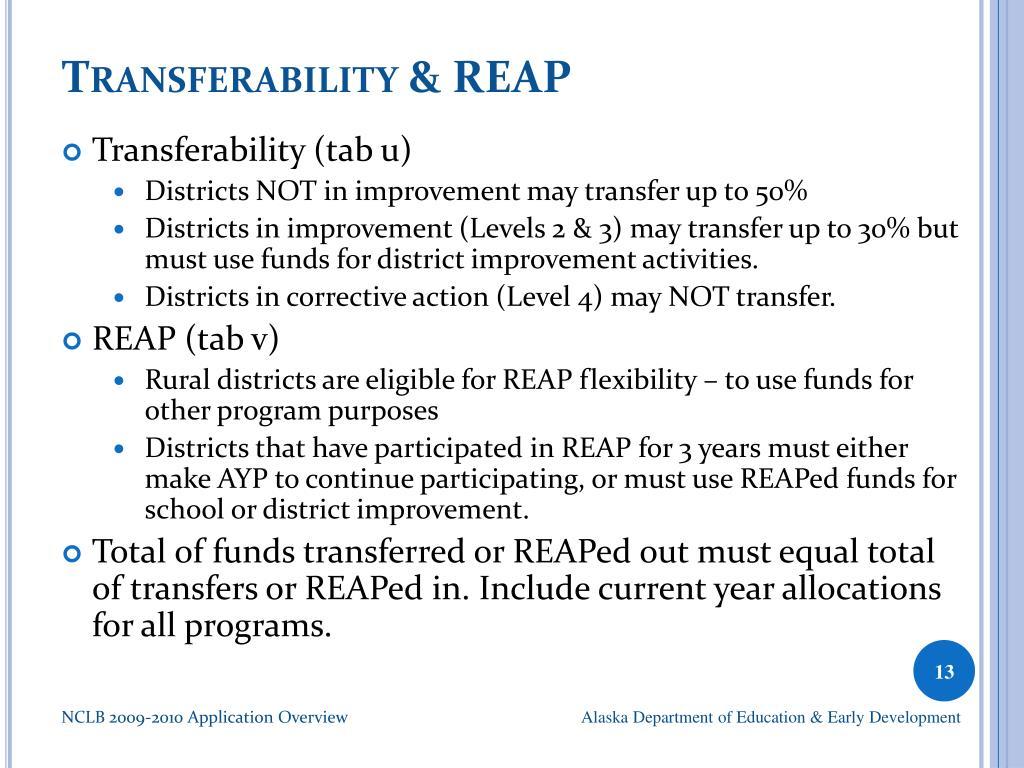 Transferability & REAP