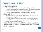 transferability reap