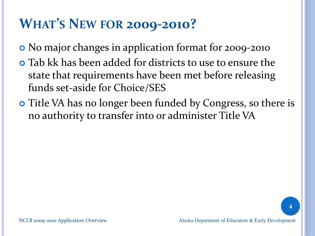 What's New for 2009-2010?