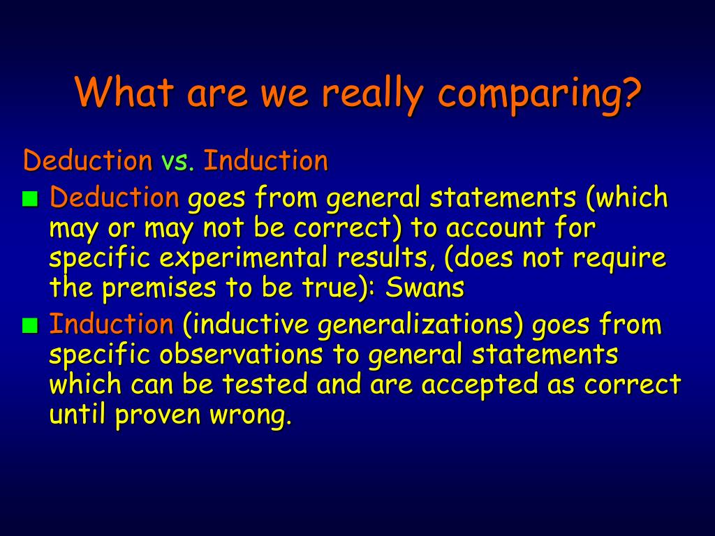 What are we really comparing?