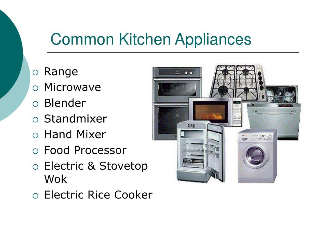 Common Kitchen Appliances