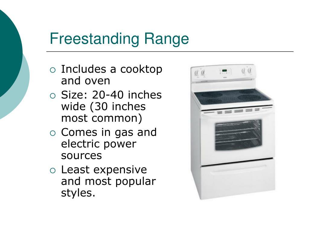 Freestanding Range