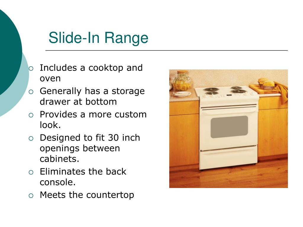 Slide-In Range