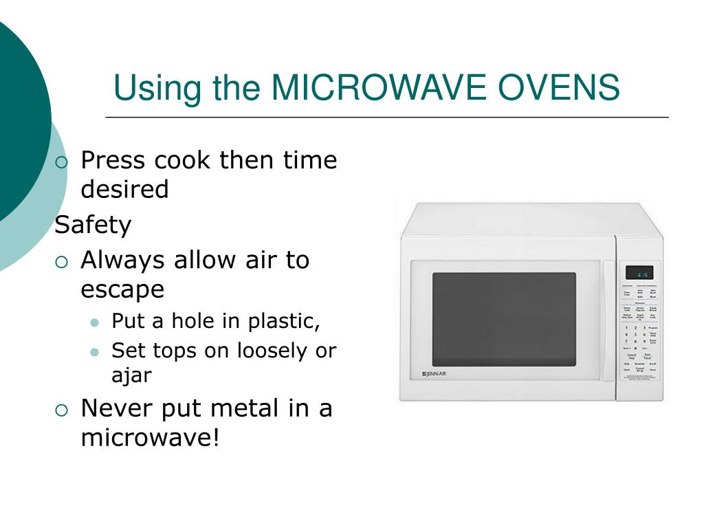 Using the MICROWAVE OVENS