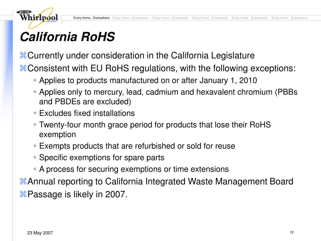 California RoHS