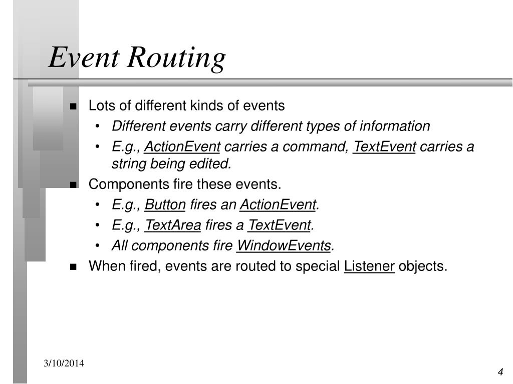Event Routing