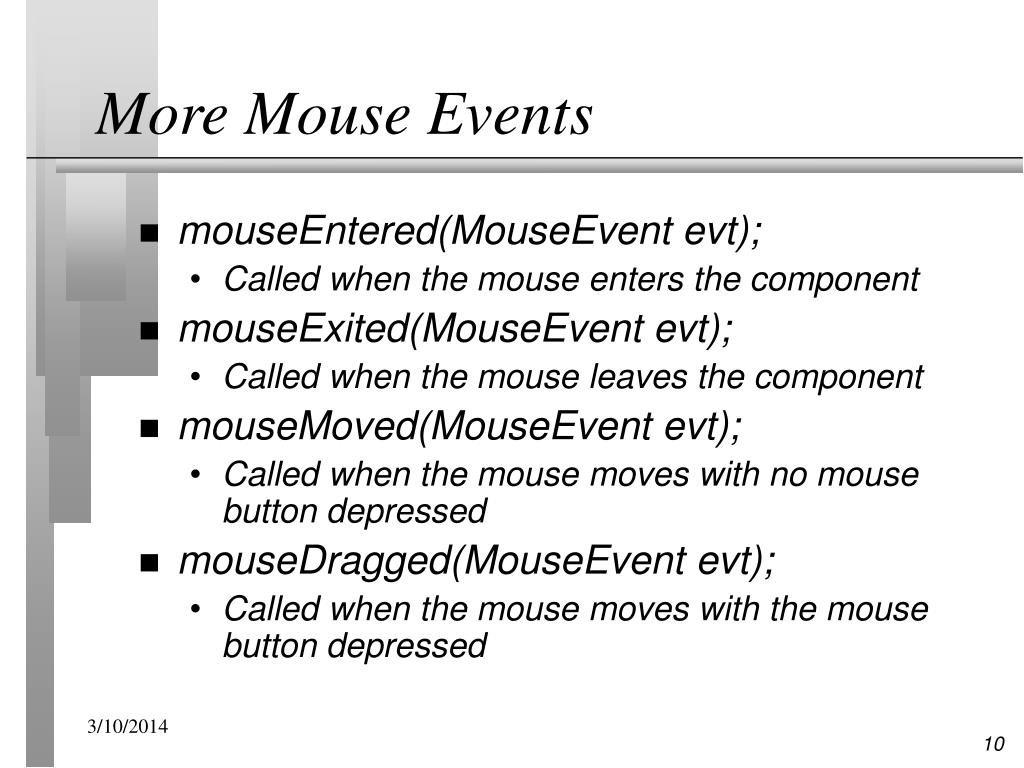 More Mouse Events