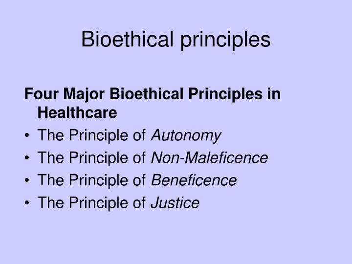 Bioethical principles