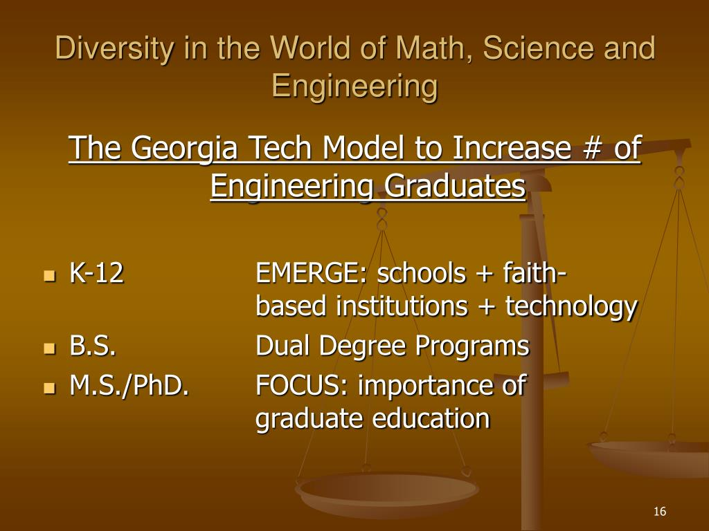 Diversity in the World of Math, Science and Engineering