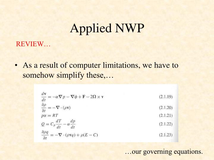 Applied nwp2