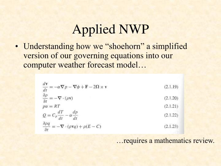 Applied nwp3