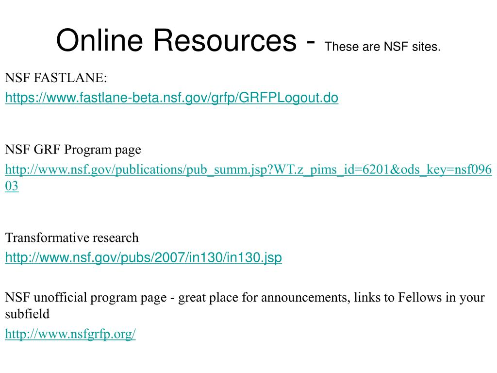 Online Resources -