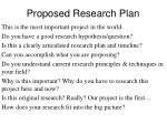 proposed research plan