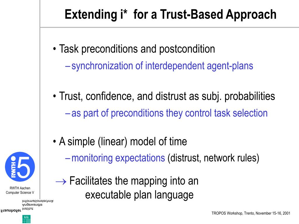 Extending i*  for a Trust-Based Approach