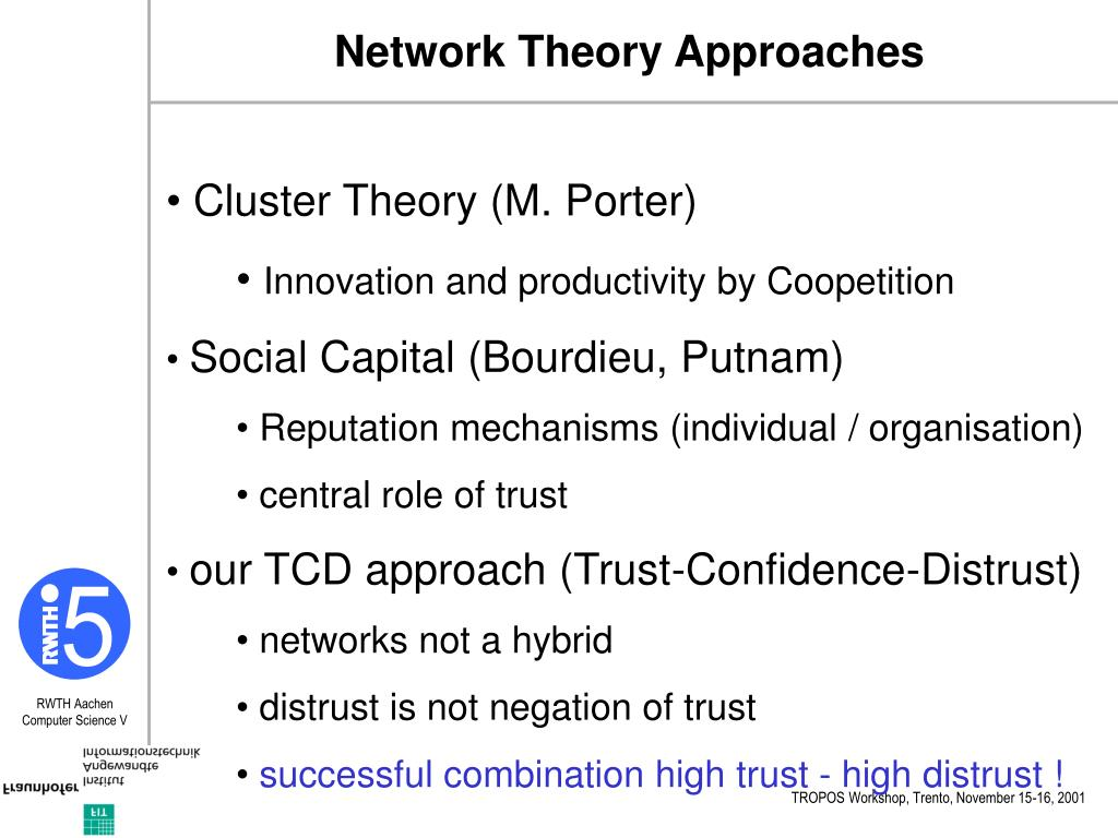 Network Theory Approaches