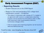 early assessment program eap79
